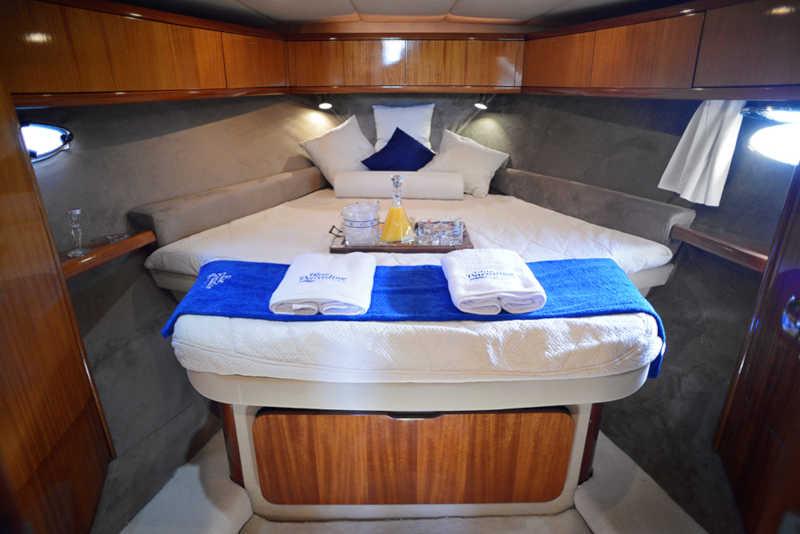 Το εσωτερικό του σκάφους γιοτ Sissy